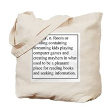 Library Info Tote Bag