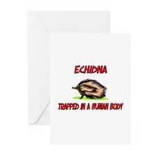 Echidna trapped in a human body Greeting Cards (Pk