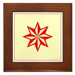 Red Guiding Star Framed Tile