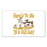 Cheers on 79th Rectangle Sticker 10 pk)
