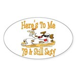 Cheers on 79th Oval Sticker (10 pk)