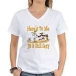 Cheers on 79th Women's V-Neck T-Shirt