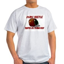 Dung Beetle trapped in a human body T-Shirt