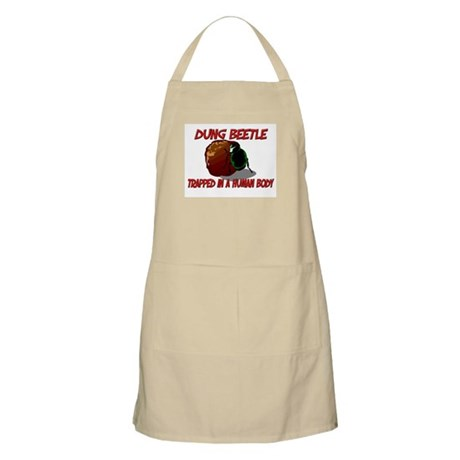 Dung Beetle trapped in a human body BBQ Apron