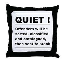 library fun sign Throw Pillow