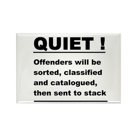 library fun sign Rectangle Magnet (100 pack)