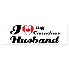I love my Canadian Husband Bumper Bumper Sticker
