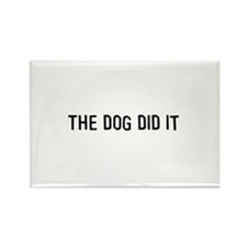 The dog did it Rectangle Magnet (10 pack)