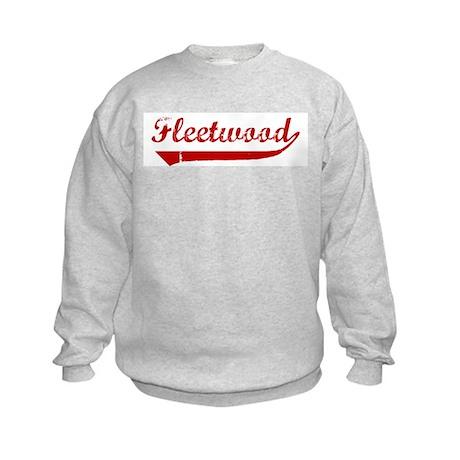 Fleetwood (red vintage) Kids Sweatshirt