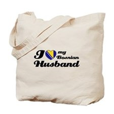 I love my Bosnian Husband Tote Bag