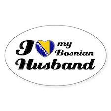 I love my Bosnian Husband Oval Decal