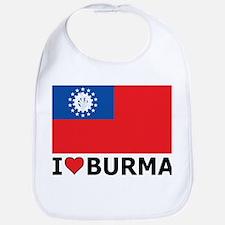 I Love Burma Bib