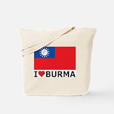I Love Burma Tote Bag