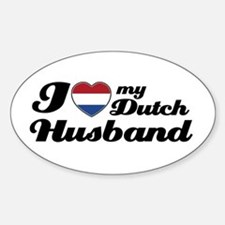 I love my Dutch Husband Oval Decal