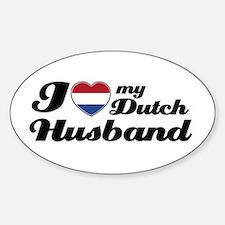 I love my Dutch Husband Oval Stickers
