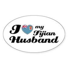 I love my Fijian Husband Oval Stickers