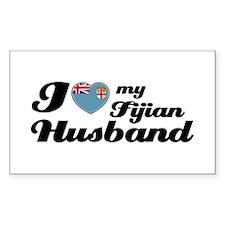 I love my Fijian Husband Rectangle Stickers