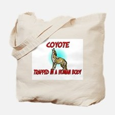Coyote trapped in a human body Tote Bag