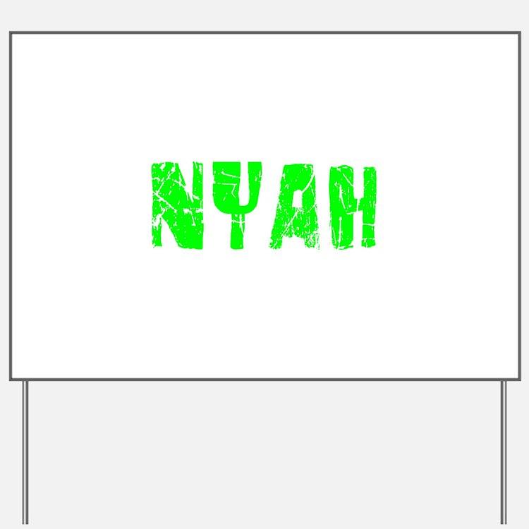 Nyah Faded (Green) Yard Sign