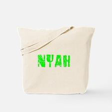 Nyah Faded (Green) Tote Bag