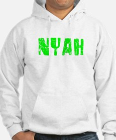 Nyah Faded (Green) Hoodie Sweatshirt