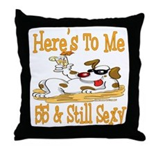 Cheers on 55th Throw Pillow