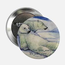"Polar Bears (100 Years...) 2.25"" Button"