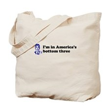 America's Bottom Three Tote Bag