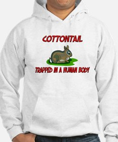 Cottontail trapped in a human body Hoodie