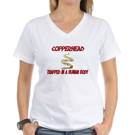 Copperhead trapped in a human body Women's V-Neck
