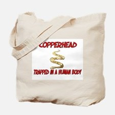 Copperhead trapped in a human body Tote Bag