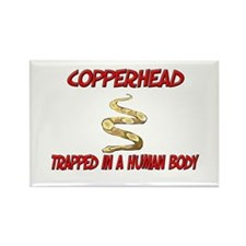 Copperhead trapped in a human body Rectangle Magne