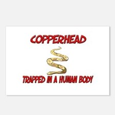 Copperhead trapped in a human body Postcards (Pack