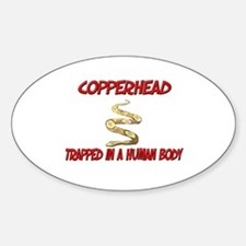 Copperhead trapped in a human body Oval Decal