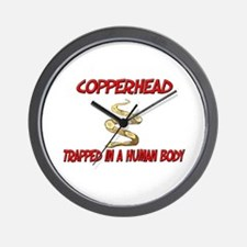 Copperhead trapped in a human body Wall Clock