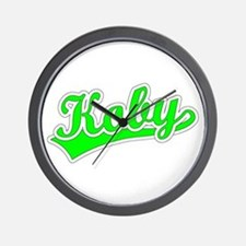 Retro Koby (Green) Wall Clock