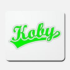 Retro Koby (Green) Mousepad