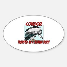 Condor trapped in a human body Oval Decal