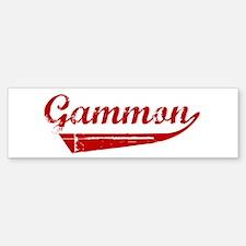 Gammon (red vintage) Bumper Bumper Bumper Sticker