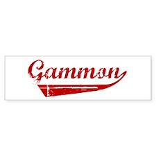 Gammon (red vintage) Bumper Bumper Sticker