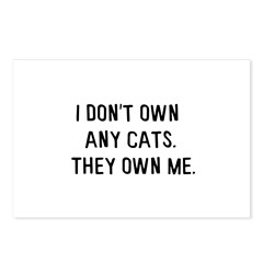 They own me. Postcards (Package of 8)