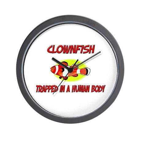 Clownfish trapped in a human body Wall Clock