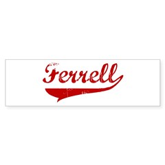 Ferrell (red vintage) Bumper Sticker (50 pk)