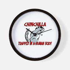 Chinchilla trapped in a human body Wall Clock