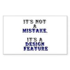 Mistake Design #1 Rectangle Decal