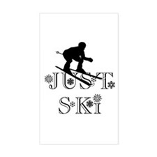 JUST SKI Rectangle Decal
