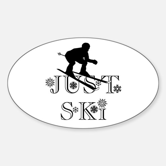 JUST SKI Oval Decal