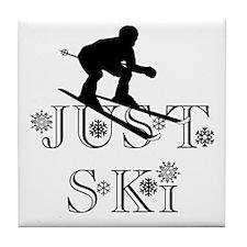 JUST SKI Tile Coaster