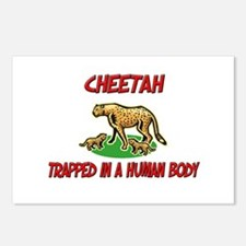 Cheetah trapped in a human body Postcards (Package
