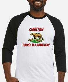 Cheetah trapped in a human body Baseball Jersey